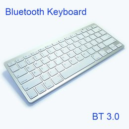 Wireless bluetooth keyboard smart tv online shopping - High quality Ultra slim Wireless Keyboard Bluetooth Keyboards for andriod IOS system Tablet PC smart phone android tv box