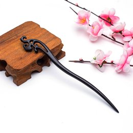 hair accessories indian weddings 2020 - Elegant hollow flower stick jewelry Chinese style vintage wooden hairpin ornaments headband hair pins and clips accessor