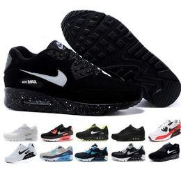 Cheap Halloween Shoes NZ - 2019 New 90 Trainer Shoes Classic Men Women Cheap 90 Sports Shoes Black Red White Air Cushion Designer Air90 Sneakers FF201