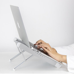 macbook aluminium NZ - Aluminum Alloy Laptop Stand 6-level Heights Laptop Accessories for Macbook Pro Air 9-17 inch Laptop Holder Notebook Riser