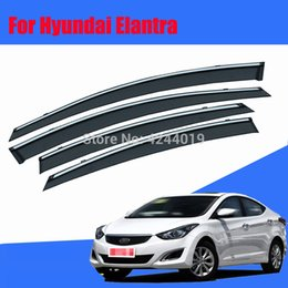 $enCountryForm.capitalKeyWord Australia - Car Awnings Shelters Window Visors Sun Rain Shield Sticker Cover Plating Chrome Trim Auto Accessories For Hyundai Elantra