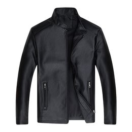 Wholesale christmas jackets men for sale – winter men s long sleeve christmas jackets man new fashion leather clothing rest collar zipper coat top casual pure color g25