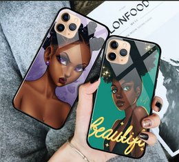 AmericAn iphone online shopping - cell Phone Case fashion American cartoon girls glass type for iPhone pro max X XR XS Max s plus plus plus Soft TPU Back Cover