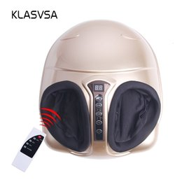 heated massage Australia - KLASVSA Electric Shiatsu Foot Massager Far Infrared Heating Kneading Air Compression Reflexology Massage Device Home Relaxation SH190928