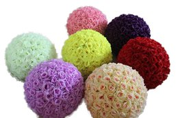 $enCountryForm.capitalKeyWord NZ - 12 Inch Wedding silk Pomander Kissing Ball flower ball decorate flower artificial flower for wedding garden market decorati