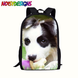a6636d531c Border Collie School Bag Student supplies Satchel Teenager Kids Boys Girls  Casual Dog Pattern Rucksack laptop Backpack Bolsos