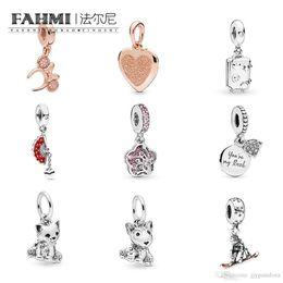 $enCountryForm.capitalKeyWord Australia - FAHMI 100%925 Sterling Silver 1:1 Cat Puppy Rose Ear Headband Long Peach Series Fan Snowboarder Dangle My Rock Suitcase Rose Heart Pendant