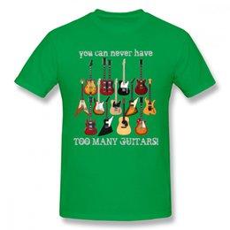 Discount silver electric guitars - 2019 mens designer t shirts Fashion Electric Guitar Tee Shirt Male Big Size Music Style T Shirt man tee shirt cotton T-S