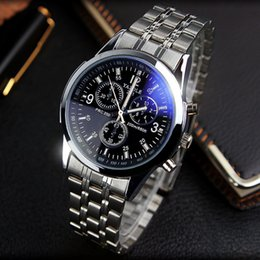 hand watch for men sports Australia - YAZOLE Full Steel White Black Blue Ray Dial 30m Waterproof Luminous Hands Business Dress Sport Wrist watch Watches for Men Male