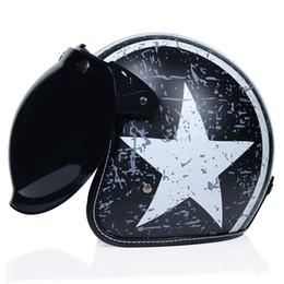 Vespa Helmet Half Face Australia - Adult Open Face Half Leather Helmet For Harley Moto Motorcycle Helmet vintage Motorcycle Motorbike Vespa