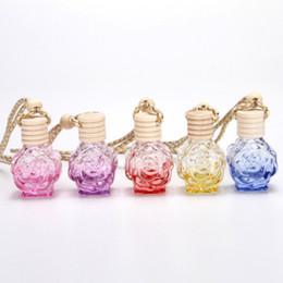$enCountryForm.capitalKeyWord NZ - Car Air Freshener Hanging Perfume Empty Glass Bottle Auto Diffuser Pendent Fragrance for Essential Oil