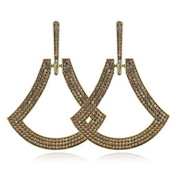 big hoop rhinestone earring Australia - Brand New Big Earrings Fashion Crystal Rhinestone Design Hoop Earring Luxury Jewelry Ear Decoration for Girls Women