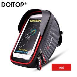 $enCountryForm.capitalKeyWord Australia - Doitop 6.0 Inch Bike Bicycle Waterproof Cell Phone Bag Holder Motorcycle Mount For Samsung Galaxy S8 Plus iphone 7 Plus lg V20 T190620