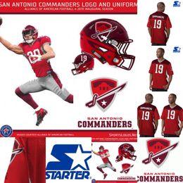 8780643d4 Mens San Antonio Commanders Jersey 12 Marquise Williams 22 Aaron Green 96  Winston Craig Orion Stewart Alliance of American Football Jerseys