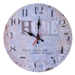 Vintage Fashion Wall Clocks NZ - Vintage Style Non-Ticking Silent Antique Wood Wall Clock For Home Kitchen Office Decoration Wall Clocks Fashion Design
