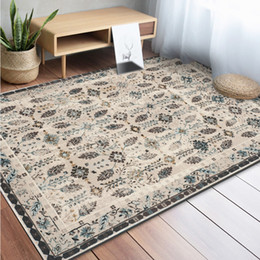 Discount room sized rugs - Morocco Style Geometric Flower Carpets for Living Room Anti-Slip Soft Kids Bedroom Floor Mats Doormat Large Size Home Ar