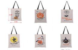 $enCountryForm.capitalKeyWord Australia - Hot Sale Halloween Gift Bags Large Cotton Canvas Hand Bags Pumpkin,Devil,Spider Printed Halloween Candy Gift Bags Gift Sack SN3350