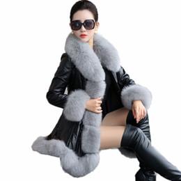 $enCountryForm.capitalKeyWord UK - Women's Leather Jacket2018Warm Winter Jacket 6XL Plus Size PU Leather Faux Fur Coat Long Synthetic Fox Fur Collar Coat Woman