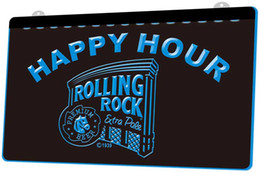 Rolls lights online shopping - LS1270 b Rolling Rock Beer Happy Hour Bar Neon Light Sign jpg Decor Dropshipping colors to choose