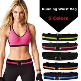 $enCountryForm.capitalKeyWord Australia - Waterproof Elastic Running Jogging Waist Bag Adjustable Anti-theft Sports Fanny Pack Pocket large capacity Cycling Zip Pouch #86626