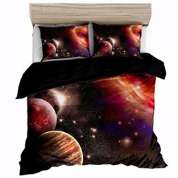 outer space themed bedding NZ - Space star 3d Galaxy Duvet Cover Set Single double Twin Queen 2pcs 3pcs bedding sets Universe Outer Space Themed Bed Linen