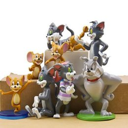 Cat Dog Figures Australia - New 9 PCS Kawaii Tom and Jerry Figure Toys Cat Mouse Dog Cartoon Animals Model Kids Gift Collection Cake Topper Anime Juguetes