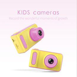 Slr Screen NZ - New Children Camera Mini Digital Kids Camera Cute Cartoon Camera 1080P Toddler Toy Children Birthday Gift 2 Inch Screen Cam