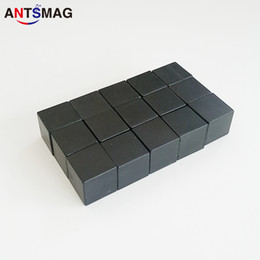 Neodymium Magnets N52 Wholesale Australia - Plastic Coated N52 Neodymium Cube Magnets 15x15X15MM, 50Pack Permanent Water Proof DIY Magnets