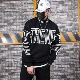 loose turtleneck hoodie 2019 - 2019 Hiphop Loose Letter Printed Hip-Hop Man Fashionable Men's High-collar Guard Clothes on INS Street sweatshirt m