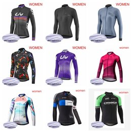 orbea fleece jersey NZ - LIV MERIDA ORBEA team Cycling Winter Thermal Fleece jersey Mountain Bike Wear women Sportswear women Racing52119