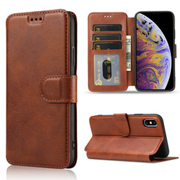 $enCountryForm.capitalKeyWord NZ - For iphone XR XS MAX 8 Plus Luxury Leather Wallet Flip Phone Case TPU Matte Cover With Card Slots Photo Frame Phone Holder