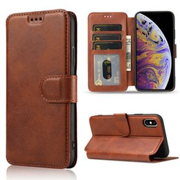 Flip leather card wallet cover case online shopping - For iphone XR XS X Plus Luxury Leather Wallet Flip Phone Case TPU Matte Cover With Card Slots Photo Frame Phone Holder