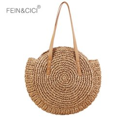 $enCountryForm.capitalKeyWord Australia - Beach Bags round straw bag Women Hand woven big large Knitting Handbags Casual circular Bag Summer 2018 new Shoulder Bag #193924