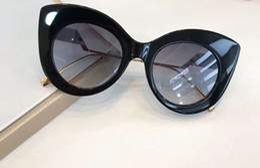 Cat S Eye Sunglasses Australia - Black Gold Cat Eye Sunglasses Grey Gradient Lens 0353 s Sun Glasses Women Designer Sun Glasses New with box