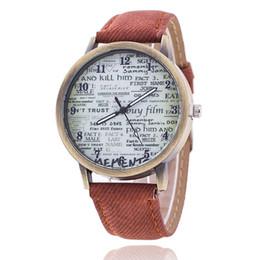 $enCountryForm.capitalKeyWord Australia - Fashion Brand Quartz Watches Newspaper Pattern Cartoon Watch Women Casual Vintage Leather Girls Kids Wristwatches Gifts Clock
