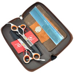 japanese steel hairdressing scissors NZ - Meisha 5.5 inch 6 inch Hair Scissors Set Japanese Steel Hairdressing Cutting Shears Barber Styling Thinning Tijeras Salon Supplies HA0149
