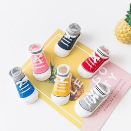 $enCountryForm.capitalKeyWord Australia - 2pairs 1-3Y Boy girl Children Baby Girl's Canvas Shoes Socks Stripped Airy Short Ribbed Socks for Baby Kids Summer Cotton