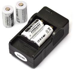 Battery Slot NZ - atteries Rechargeable Batteries 4PCS 3.7V 2200mAh 16340 CR123A Rechargeable Li-ion + 1PCS 2-slot Travel Battery Charger,Flashlight Lithi...