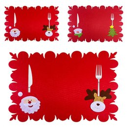 $enCountryForm.capitalKeyWord Australia - Rectangle Christmas Ornament Place Mats Knife Fork Universal Placemat Fashion Table Pads Creative Fashion Hot Selling 5 4yf J1