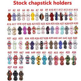 59 Estilo stock Neopreno llavero chapstick titular Softbol y béisbol Impreso neopreno Chapstick llavero Holder Party regalos de vacaciones en venta
