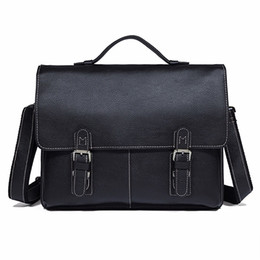$enCountryForm.capitalKeyWord UK - 7090A Unique Vintage Lichee Pattern Genuine Leather Briefcases Men Laptop Bag #208907