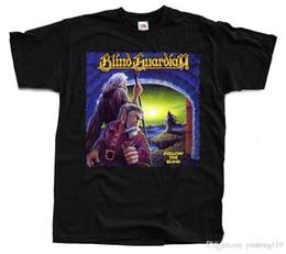 Gifts Blind Australia - New Fashion SleeveMen's Short Sleeve Gift O-Neck Blind Guardian Follow The Blind T-Shirt Black Sizes S To 3XL Shirts