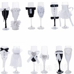 Glass Flutes Australia - Fashion Crystal champagne glass wedding toast glass bouquet goblet wedding reception bar family decoration goblet wedding decoration T2I5087