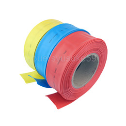 heat shrink tubing tube Canada - 25M Diameter 80mm Flat Width 125mm Heat Shrinkable Tube Sleeving Cable Wrap Heat Shrink Tubing Yellow Blue Green White Red Clear Wholesale