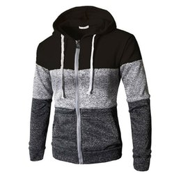 Wholesale zip up jogger resale online - Mens Newest Zip Up Casual Elastic Sweater Coat Tops Jacket Outwear Sweater Jogger Zipper Male Autumn Winter Hoody Sweatercoats