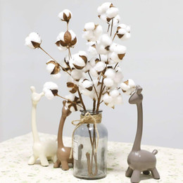 $enCountryForm.capitalKeyWord NZ - Naturally Dried Cotton Flower Artificial Plants Floral Branch For Wedding Party Decoration Fake Flowers Home Decor