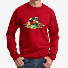 Geek Rubiks Cube Maze 3d Print Men Hoodie Gift Casual Cotton Coat Sweatshirt Boyfriends Cool Geometric Tops Streetwear Men's Clothing