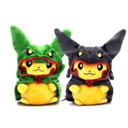 $enCountryForm.capitalKeyWord Australia - Cute Pikachu cosplay Rayquaza plush toys 20cm soft stuffed plush dolls lovely gift for kids