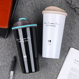 water bottle green Canada - 500ml Stainless Steel Vacuum Thermo Cup Coffee Tea Travel Mug Thermol Bottle Portable Car Thermos Water Bottle Swig