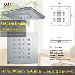 $enCountryForm.capitalKeyWord NZ - Free shipping Rainfall Showerheads 304 Stainless Steel 500x500mm 20 Inch Recessed Ceiling Mounted Shower Head Rain Bathroom Showers